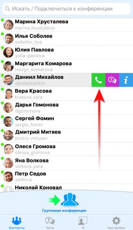 Видеозвонок с iPhone на Android 6