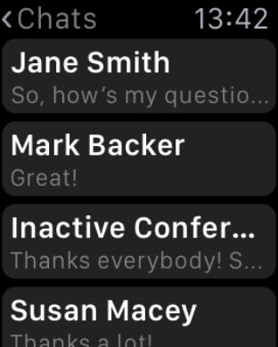 Больше возможностей с TrueConf для Apple Watch 3