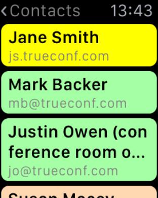 Больше возможностей с TrueConf для Apple Watch 2
