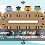 Обновление TrueConf Weathervane 3: поддержка конференц-оборудования Shure