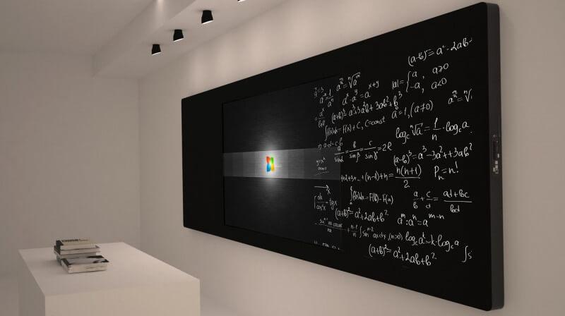 Интерактивная панель поддерживающая письмо мелом или маркером