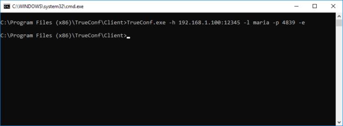 Запуск клиентского приложения TrueConf с параметрами командной строки 1