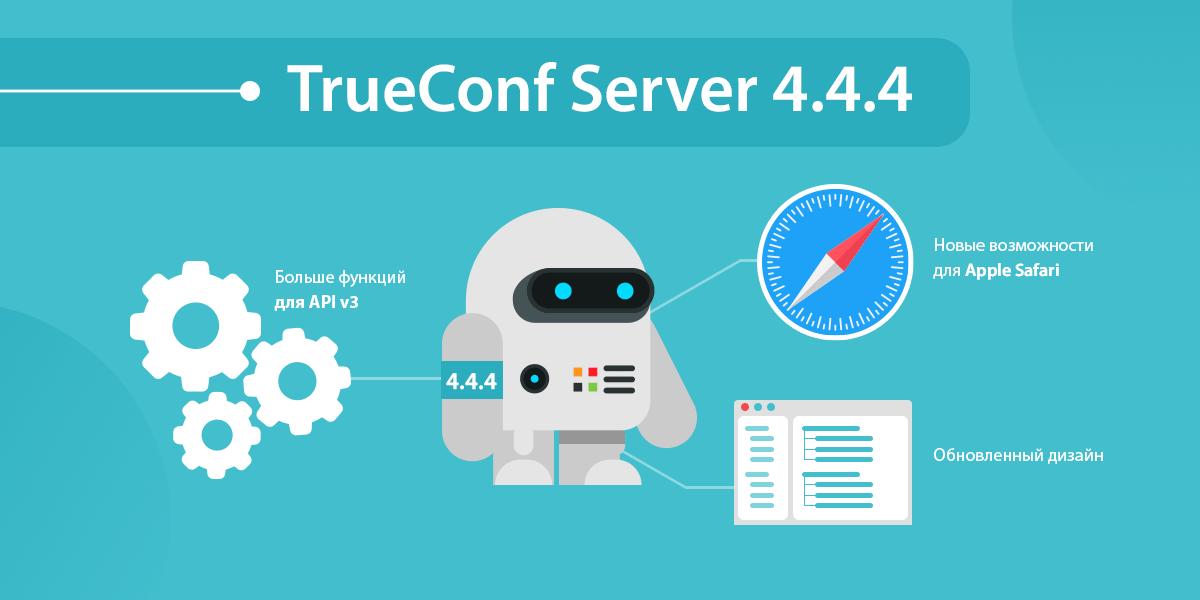 TrueConf Server 4.4.4: Новые возможности для Apple Safari и больше функций для API v3 1
