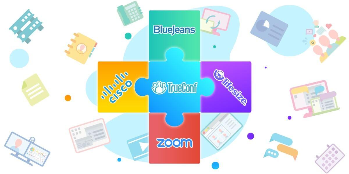 TrueConf обеспечил совместимость своего ПО с Zoom, Cisco Webex, BlueJeans Meetings и Lifesize 1