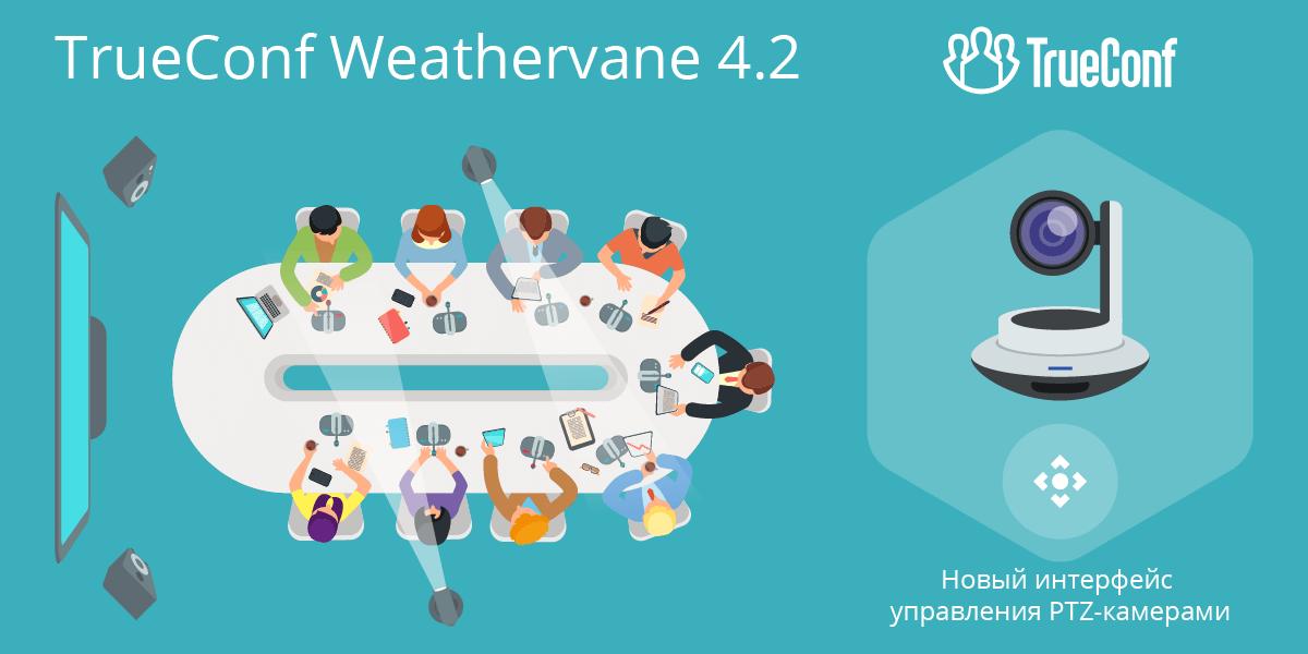 Обновление TrueConf Weathervane 4.2: Поддержка TrueConf Room и новый интерфейс управления PTZ-камерами 1