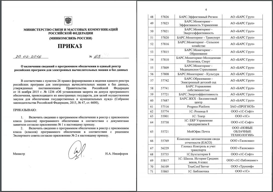 Курс на импортозамещение: решения TrueConf в Едином реестре российского ПО 3